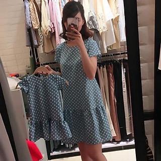 Set váy đôi bi bò tôn dáng