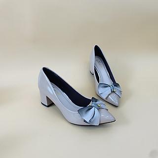 [ Shop giày somina ] Giày cao gót nơ lưới 5cm MT328