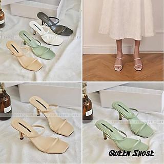 Giày cao gót thời trang nữ phối dây quai mảnh gót nhọn cao 7cm