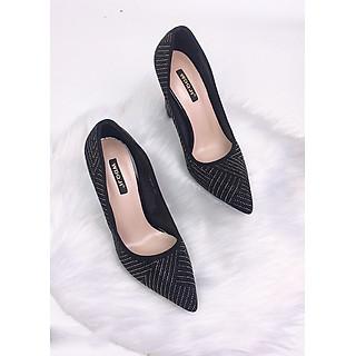 Giày cao gót kim tuyến sang chảnh trụ 10cm GXK030