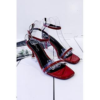 Giày Sandal Gót Vuông 5p Quai Trong