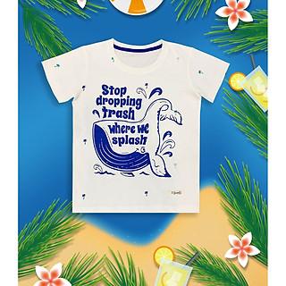 Áo thun ECOBAMBI chủ đề Bảo vệ động vật - Cá voi xanh