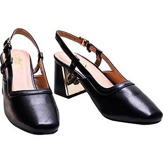 Giày sandal Mozy gót vuông kiểu mũi vuông