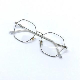 Kính cận thời trang mắt đa giác Hàn Quốc bảo vệ mắt chống tia UV thay được tròng cận