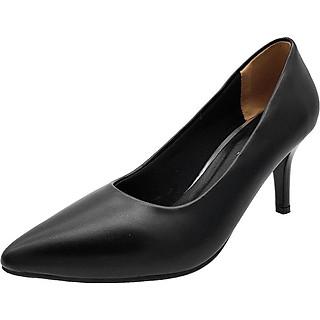 Giày Gót Nhọn Cao 7cm Dáng Xinh Trẻ Trung Đế Chắc Không Đau Chân 7P0316 (Đen)