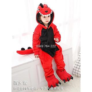 Bộ Đồ Thú Khủng long Đỏ    Bộ đồ thú khủng long đẹp trẻ em - Đồ thú siêu Dễ thương cho bé