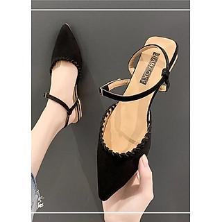 Giày nữ đế bệt mũi nhọn ôm chân màu sắc siêu tôn da - TT136