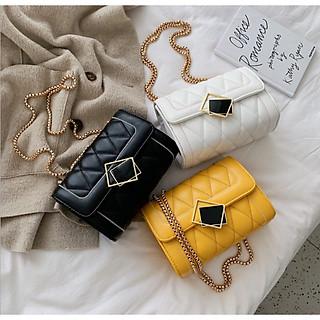 Túi đeo chéo trần trám khóa kính nghiêng thời trang GT 403