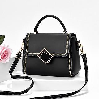 Túi xách nữ pha màu, túi xách công sở thời trang phong cách Hàn Quốc