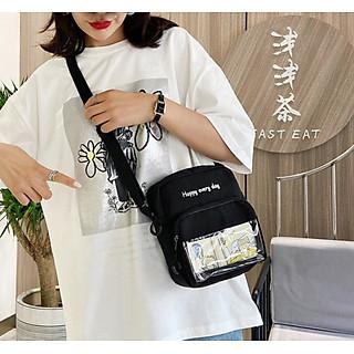 Túi Vải Canvas Đeo Chéo Phong Cách Hàn Quốc Happy GT 455