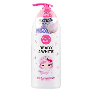 Sữa Tắm Trắng Da Cathy Doll Ready 2 White One Day Whitener Body Cleanser 500ML