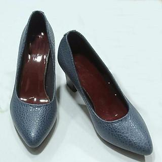 Giày cao gót cao cấp thiết kế da vân -112