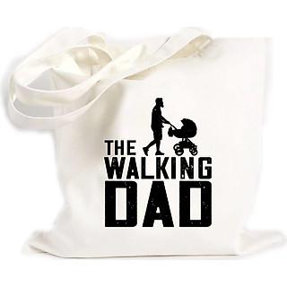 Túi Vải Đeo Vai Tote Bag In họa tiết Bố đang đi bộ