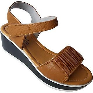 Giày Sandal Nữ Đế Xuồng BIGGBEN Da Bò Thật SDX03