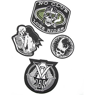 Set 4 Patch vải sticker ủi - Skull