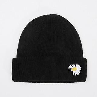 Mũ len sợi nhỏ thêu hình hoa cúc