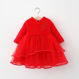 Váy lông công chúa xinh dày ấm, chân váy ren bồng 2 tầng lót nỉ, diện Tết, sự kiện, sinh nhật | MV28