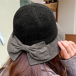 Mũ nón vành, tai bèo nữ phong cách Retro - có nơ