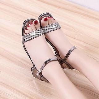 Giày / Sandal Cao Gót Nữ Da  Bóng  5p  CG04