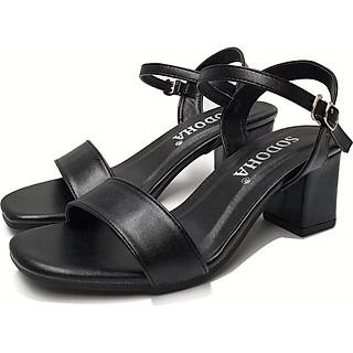 Giày nữ , giày cao gót thời trang SODOHA quai mảnh điệu đà đế cao 6cm SDH6616