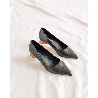 Giày Búp Bê Cao Gót 4 Phân Da Rắn Lithes P039 Nhiều Màu