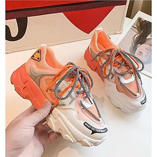 Giày Nữ, Giày Sneaker Nữ, Giày Thể Thao Nữ - Đế Phối Màu Thời Trang, 2 dây buộc cá tính GTTNU-22.
