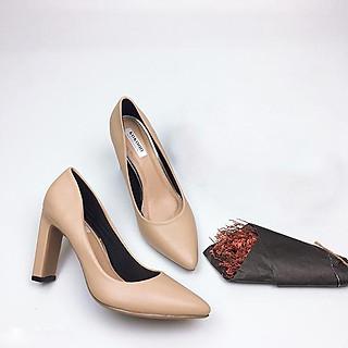 Giày cao gót 7cm da lì form chuẩn GXK110
