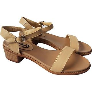 Giày Sandal Cao Gót BIGGBEN Da Bò Thật SDCG51