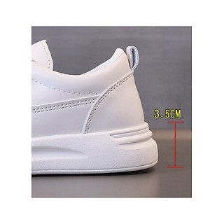Giày Thể Thao Nữ 3Fashion Black And White Style Korea Chất Da PU Mềm Đế Cao 3.5CM - MSP 3229