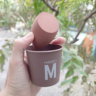 Bông phấn tán kem nền hộp đựng coffe- giao màu ngẫu nhiên