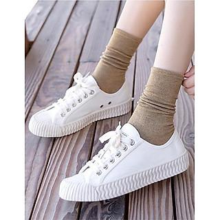 Giày thể thao sneaker nữ thấp cổ đế kếp LAHstore, chất liệu vải canvas bền đẹp, thời trang trẻ, phong cách Hàn Quốc