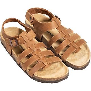 Giày Sandal Unisex Chiến Binh Da Bò Đế Trấu HuuCuong