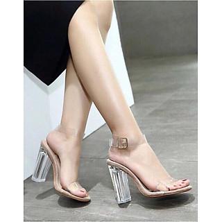 Sandal gót trong 7f siêu hot