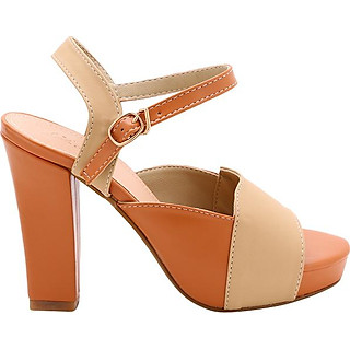 Giày Sandal Cao Gót Nữ Phối Màu LN913