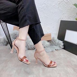 Giày cao gótnữ, sandal cao gót nữ thời trang gót nhọn, hỡ mũi, chuẩn size 35-4, gót cao 6p