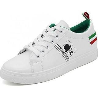 Giày Sneaker Thời Trang Nữ - YAMET SN005TX Trắng Phối Xanh
