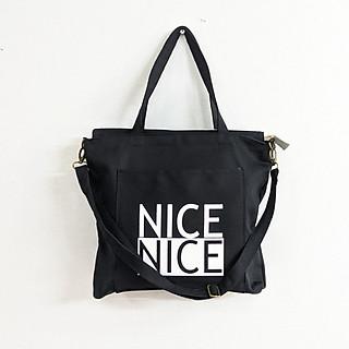 Túi Tote NICE - VN208 ( có khóa kéo, dây đeo )