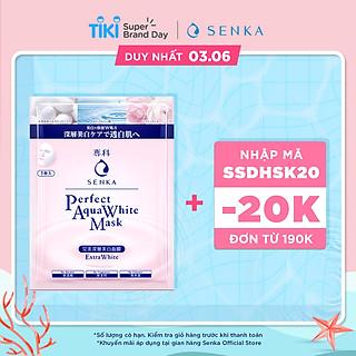 Mặt nạ cấp ẩm dưỡng trắng da Senka Perfect Aqua White Mask Extra White 23g