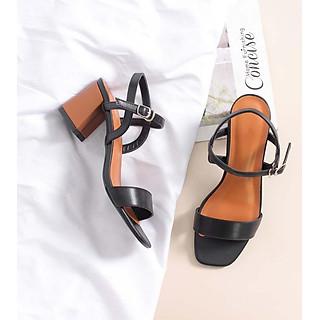 Giày Sandal Nữ Cao Gót Gót Vuông 5cm - Giày Cao Gót Mẫu Mới Dáng Công Sở Duyên Dáng Đầy Vẻ Sang Trọng