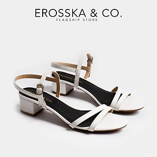 Giày Sandal Nữ Erosska Quai Mảnh Thời Trang Phối Màu Sang Trọng Cao 3 Phân EB006
