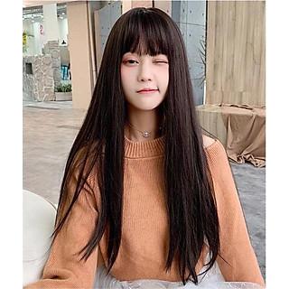 Tóc giả nguyên đầu thẳng dài siêu xinh kèm lưới và lược. Cam kết y hình, giống tóc thật 100%, Chất tóc là tơ nhân tạo loại 1, chịu nhiệt tốt.