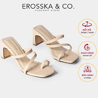 Dép cao gót thời trang nữ Erosska phối dây mãnh kiểu dáng xỏ ngón hiện đại thích hợp đi chơi đi học EB023