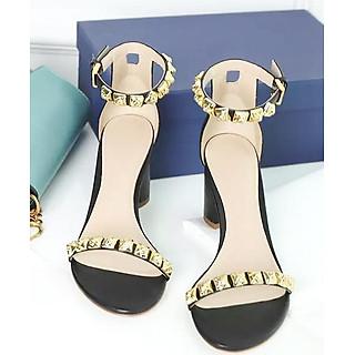 Giày Sandal Cao Gót Quai Tán Đinh