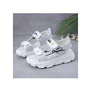 Sandal nữ thời trang đế cao kiểu dáng cao cấp 2 quai ngang hoa cúc cực sịn SD03