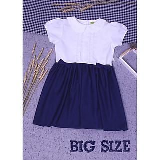 Đầm học sinh nữ cổ sen xếp li ngực cho bé gái từ 35kg - 70kg ( Big size) , Đầm học sinh cấp 1, 2, 3 để đi học GDP014