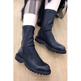 Giày Boot Da Cao Cổ