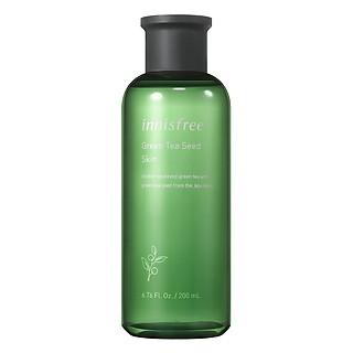 Nước cân bằng chăm sóc làm mịn da từ trà xanh và dầu hạt trà xanh tươi Innisfree Geen Tea Seed Skin 200ml - NEW