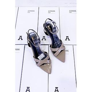 Giày Sandal Cao Gót Nữ Mũi Nhọn Gót Vuông