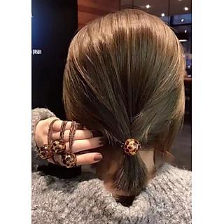 Cột tóc da beo hột tròn hàn quốc cực xinh, thun cột tóc, dây cột tóc