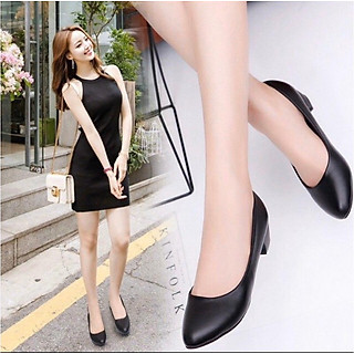 Giày cao gót nữ công sở đế 4p hàng VNXK dáng basic siêu bền M4